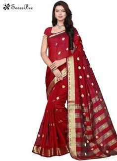 Irresistible Cotton Maroon Traditional Saree  For More Information WhatsApp 7202080091 Or Visit www.SareeBe.com #red #designer #kurti #fashionista #makeup #UK #outfitoftheday #women-fashion #model #indian #saree #ramadanmubarak #ethnic #picoftheday #cool #summer-style #streetstyle #beauty #styles #rakshabandhan #rakshabandhangift