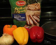Chicken Fajita shortcut: Tyson Grilled & Ready Chicken Strips