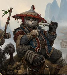 How can I get to Pandaria? Fantasy Character Design, Character Inspiration, Character Art, Dungeons And Dragons Characters, Fantasy Characters, Anime Kunst, Anime Art, Panda Art, Warcraft Art