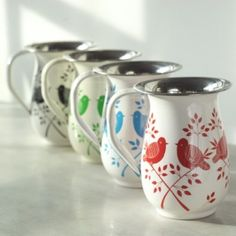Greenheart fair trade hand painted Lolita Jugs - sustainable home decor