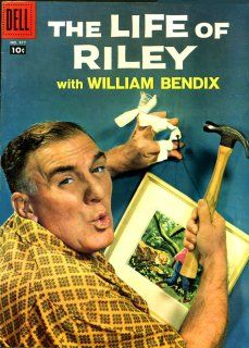 The Life of Riley, with William Bendix in the title role, is a popular American radio situation comedy series of the 1940s that was adapted into a 1949 feature film, a long-run 1950s television series (originally with Jackie Gleason as Riley for 1 truncated season, then with Bendix for 6 seasons), and a 1958 Dell comic book.The radio program starring William Bendix as Riley initially aired on the Blue Network, later known as ABC, from January 16, 1944 to June 8, 1945. Then it moved to NBC…