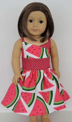Watermelon WrapTop Dress for American by erinslittlesecrets, $15.95