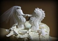 Kissing Seahorse Wedding Cake Topper #celebstylewed #bridal #weddings