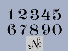 STENCIL Old Typeface 5 Inch Numbers Set Plus by ArtisticStencils, $25.00
