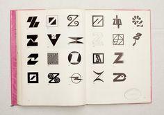 081.jpg (1600×1130)  TRADE MARKS & SIMBOLS Volume 1: Alphabetical Designs   YASABURO KUWAYAMA  #logo #design #Inspiration #graphic #shape #best #awesome #typography
