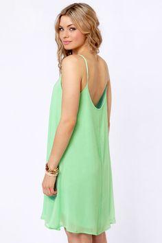 Pretty Mint Green Dress. Simple, lose, and elegant