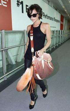 Victoria Beckham and Vuitton Monogram Denim Sunrise in Orange
