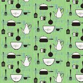 50's Kitsch-en by cynthiafrenette, Spoonflower digitally printed fabric
