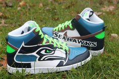 Seattle Seahawks | Seattle Seahawks Nike Dunks - Custom Kicks | Proof Culture - A Sneaker ...
