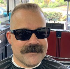 Walrus Mustache, Beard No Mustache, Male Pattern Baldness, Full Beard, Daddy Bear, Nude Beach, Barber Shop, Sunglasses, Guys