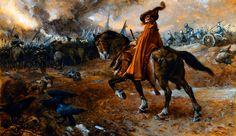 Death rides into battle, English Civil War