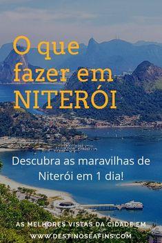 Niterói fica bem pertinho do Rio e tem cada vista de cair o queixo! Veja aqui um roteirinho completo para você não perder nada e se encantar com Niterói! Brazil Vacation, Places, Travel Stuff, Trips, Camping, Travel Guide, Luxury Travel, Rio De Janeiro, Travel Ideas