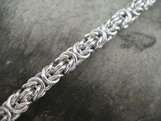 Micro Byzantine Chainmail Bracelet - Aluminum - Woven Tight. $25.00, via Etsy.