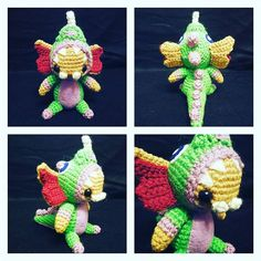 Dino Gnar is complete and ready for the rift!    He took about 20 hours of work to design and assemble and stands approximately 6 inches tall.     #gnar #dinognar #dinosaurgnar #leagueoflegends #videogame #crochet #amigurumi #handmade #kawaii