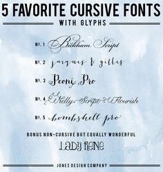 5 best cursive fonts with glyphs {and how to use them}