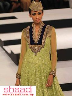 Mustard Green Collections by Vikram Phadnis Party Wear, Party Dress, Desi Wear, Indian Fashion, Womens Fashion, Bridal And Formal, Desi Clothes, Bridal Dresses, Couture Dresses