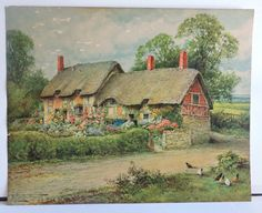 Vintage calendar or poster prints of Landscape Scenery, village scenes, etc. Vintage Calendar, Poster Prints, Art Prints, See Picture, Cottage Chic, Vintage Prints, Home Art, Scenery, Landscape