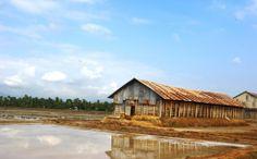 Salt farms in Kampot, Cambodia