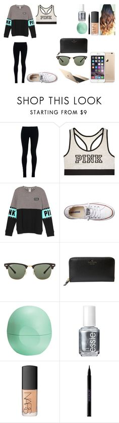 """Untitled #430"" by kalieh092 on Polyvore featuring NIKE, Victoria's Secret, Converse, Ray-Ban, Kate Spade, Eos, Essie, NARS Cosmetics and Urban Decay"