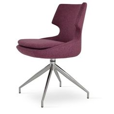SohoConcept Patara Spider Genuine Leather Upholstered Dining Chair
