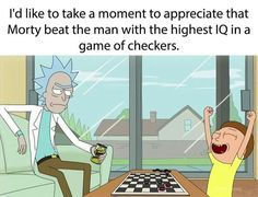 Or Rick could have pretended to lose to make his grandson happy