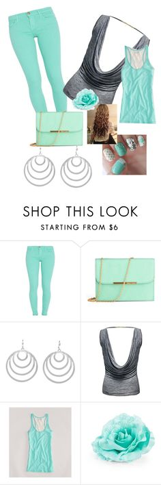 """""""mint"""" by mckenzie-cool ❤ liked on Polyvore featuring Current/Elliott, Style Tryst, Jane Norman, American Eagle Outfitters and Pieces"""