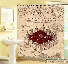 Hot 2014 Marauderu0027s Map Custom Shower Curtain Mine Craft Game Avilable 3  Size Bath Curtain GIFT