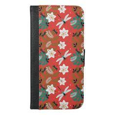 fantastic colored floral iPhone 6/6s plus wallet case