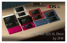 Nintendo 3DS XL Deco Directly ported from Tomodachi Life, edited, remapped, retextured, resized, recoloured, and what-have-you by me, is the Nintendo 3DS XL! It does not function but works for deco,...