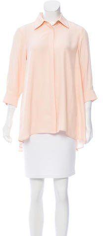 Valentina Kova Silk Button-Up Top