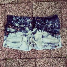 Bleached shorts.