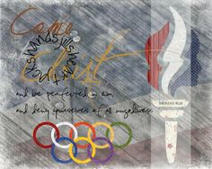 youth theme 2014, Come Unto Christ, Olympic theme, YW value color rings, Moroni 10:32, YW torch, 8x10 size, other sizes available upon request