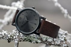 Father's Day Gift Watch Leather watch Mens by LeatherAndStyle