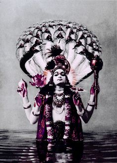 The dance of Shiva symbolizes the dancing universe itself, expressed in the ceaseless flow of energy going through an infinite variety of patterns that melt into one another___ Photo: Lord Vishnu.