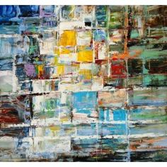 ADC8108 Abstract Oil Painting On Canvas and Metal -