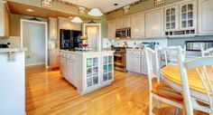 Bright and airy kitchen design with custom kitchen island. Check out these 36 other bright and airy kitchen ideas at Diy Kitchen Flooring, Easy Flooring, Plywood Kitchen, Flooring Options, Flooring Ideas, House Painting Cost, House Paint Interior, Interior Walls, Interior Design