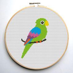 Cross stitch pattern PDF Parrot Instant Download