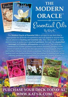 The Modern Oracle of Essential Oils - 53 Card Deck & Guidebook - KTK Spiritual Advancement Academy