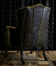 Love This Goth Corset Black Chair!