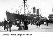 Cunard Line's Etruria at her dock