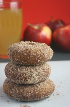 Gluten Free Apple Cider Doughnuts using Bisquick mix!