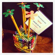 Lehrer-Wertschätzung-Geschenk  Farbstift und Bleistift Vase