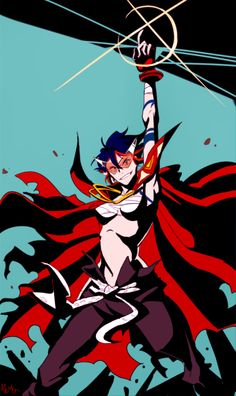 Tengen Toppa Gurren Lagann and Kill la Kill anime crossover || Kamina and Ryuko Matoi
