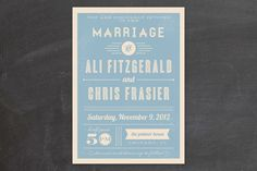 REVEL: Vintage Retro Type Invitations