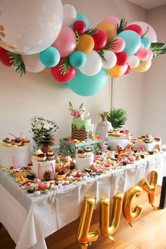 birthday party decorations 735283076648389874 - Ideas para mesas de dulces Source by Hawaiian Birthday, Luau Birthday, Birthday Parties, Birthday Party Ideas, 17th Birthday Gifts, Hawaiian Party Decorations, Birthday Party Decorations, Party Decoration Ideas, Birthday Centerpieces