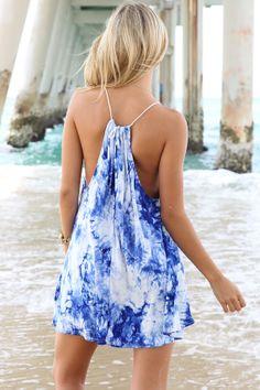 Stunning Blue Tye Dye Sun Dress by Wonderlanders on Etsy, £44.99