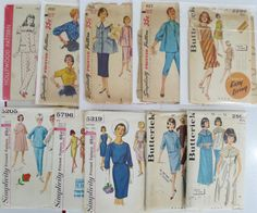 1940s1960s Sewing Pattern Lot Of 10 Butterick by linbot1 on Etsy, $30.00