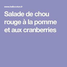 Salade de chou rouge à la pomme et aux cranberries