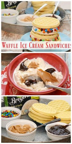 Create a dessert bar with an #EggoWaffleBar and make your own Waffle Ice Cream Sandwiches! #ad