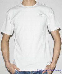 T-shirt à Manches Courtes Giorgio Armani Homme Moins Cher Blanc